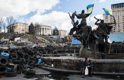 Euromaidan, Kyiv na protest stock fotografie