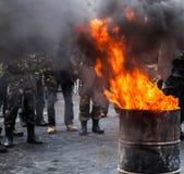 Euromaidan, Kyiv na protest stock foto