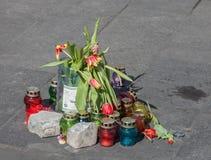 Euromaidan, Kyiv na protest stock foto's