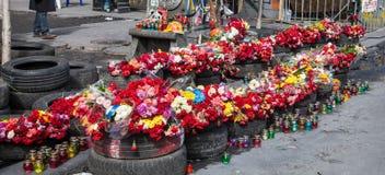 Euromaidan, Kyiv na protest stock afbeeldingen
