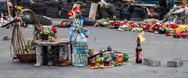 Euromaidan, Kyiv na protest Royalty-vrije Stock Afbeelding