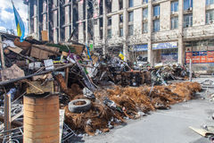 Euromaidan, Kyiv na protest royalty-vrije stock afbeeldingen
