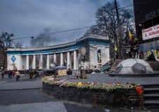 Euromaidan, Kyiv na protest stock afbeelding