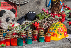 Euromaidan, Kyiv na protest royalty-vrije stock foto's