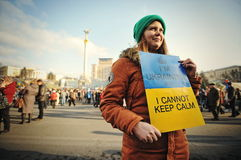Euromaidan. Revolution of Freedom. Stock Image