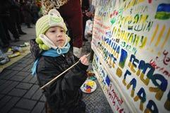 Euromaidan. Revolution of Freedom. Stock Photo