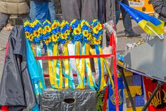 Euromaidan revolution in Kiev Royalty Free Stock Images