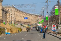 Euromaidan revolution in Kiev Royalty Free Stock Photo