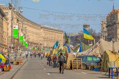 Euromaidan revolution in Kiev Stock Photo