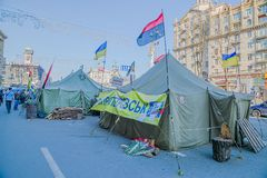 Euromaidan revolution in Kiev Stock Image