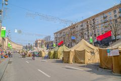 Euromaidan revolution in Kiev Stock Photography