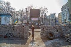 Euromaidan-Revolution in Kiew Stockfotos