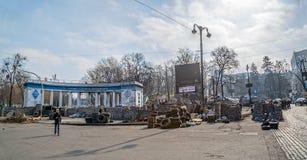 Euromaidan-Revolution in Kiew Stockfoto