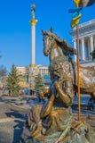 Euromaidan rewolucja w Kijów Obrazy Royalty Free