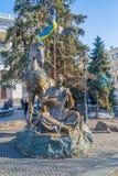Euromaidan rewolucja w Kijów Fotografia Royalty Free