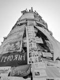 Euromaidan, tre giorni prima degli scontri con il governo fotografie stock libere da diritti