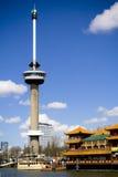 Euromast Kontrollturm in Rotterdam Lizenzfreies Stockfoto