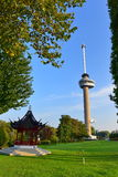 Euromast observation tower built specially for the 1960 Floriade, in Rotterdam Royalty Free Stock Images