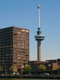 Euromast. Is an observation tower in Rotterdam, Netherlands, designed by Hugh Maaskant constructed between 1958 and 1960 Royalty Free Stock Photo