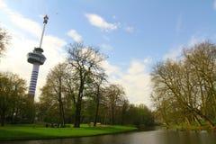 Euromast och Het parkerar - Rotterdam Royaltyfri Fotografi
