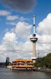 Euromast torn i Rotterdam Arkivfoto
