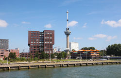 Euromast Tower by the Nieuwe Maas in Rotterdam, The Netherlands Stock Image
