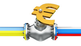 Euromaydan Gas Conflict Royalty Free Stock Photography