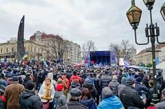 Euromaydan in Lvov Royalty-vrije Stock Foto