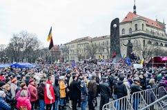Euromaydan in Lvov Royalty Free Stock Photo