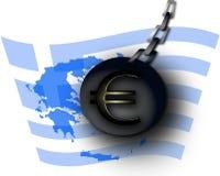 Euromenace de Grecia ilustración del vector
