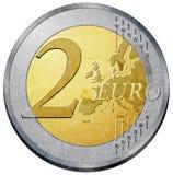 Euromünze Lizenzfreie Stockbilder