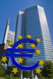 Euromonument in Frankfurt Lizenzfreies Stockbild
