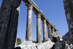Euromos寺庙 免版税图库摄影