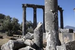Euromos寺庙 库存图片