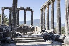 Euromos寺庙 免版税库存照片