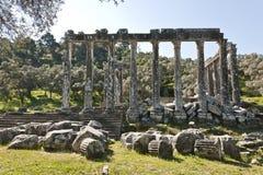 Euromos, Egeïsch Turkije Stock Afbeeldingen