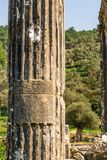 Euromus of de Oude Stad van Euromos Tempel van Zeus Lepsinos Milas, Mugla, Turkije Kyromos, Hyromos Vertaling van: specifiek stock foto's