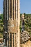 Euromus of de Oude Stad van Euromos Tempel van Zeus Lepsinos Milas, Mugla, Turkije Kyromos, Hyromos Vertaling van: specifiek royalty-vrije stock afbeeldingen