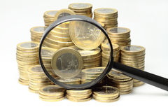 Euromynt Arkivfoton
