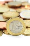 Euromynt Royaltyfria Bilder