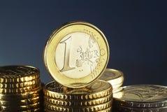 Euromynt Royaltyfri Fotografi