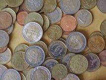 Euromynt, europeisk union Arkivfoton