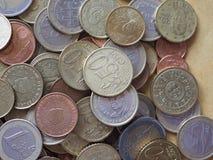 Euromynt, europeisk union Fotografering för Bildbyråer