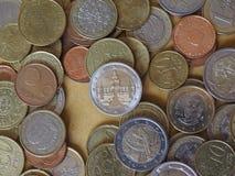Euromynt, europeisk union Royaltyfri Fotografi