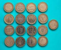 1 euromynt, europeisk union Arkivbilder