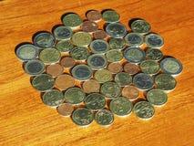 Euromynt, europeisk union Arkivbild