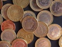 Euromynt, europeisk union royaltyfri bild