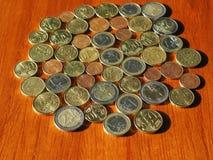 Euromynt, europeisk union Royaltyfria Bilder