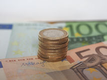 1 euromynt, europeisk union Royaltyfri Foto