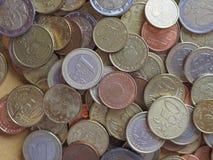 Euromynt, europeisk union Arkivfoto
